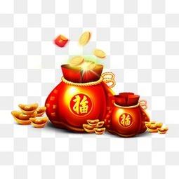 红色新年福袋金币
