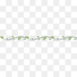 植物花边分隔线