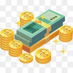 金融财富金币钞票