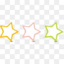 彩色星星边框