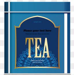 矢量茶葉盒子