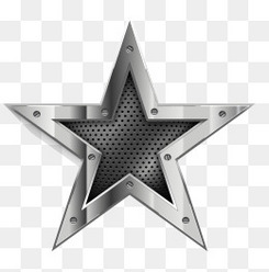 金属质感的星星