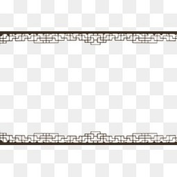 中國風花紋邊框古風古典