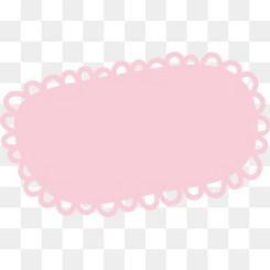 粉色花边边框