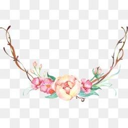 手绘小清新装饰花