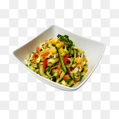 盘子上的凉菜