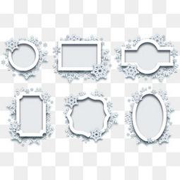 雪花紋理邊框