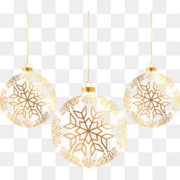 金色圣诞球
