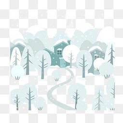 冬季的森林