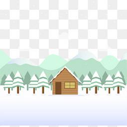 冬天的小木屋