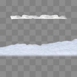 厚厚的白色雪
