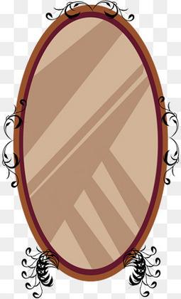 矢量手绘欧式镜子