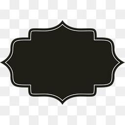 黑色美式花纹面包标签