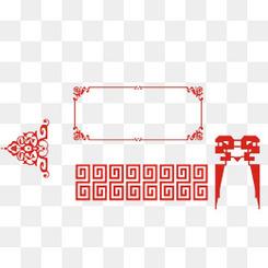 中国风红色喜庆边框