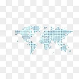 矢量颗粒状世界地图素材