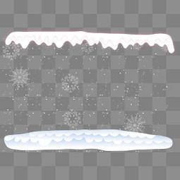 大雪冰雪边框元素