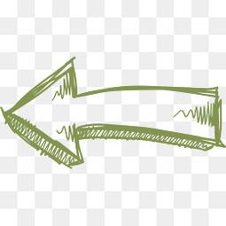 绿色卡通手绘箭头