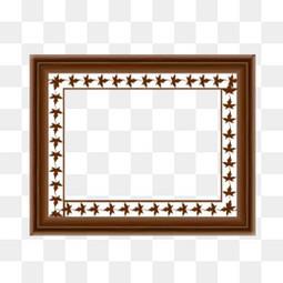 中式实木相框素材