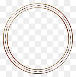 圆形边框相框素材免抠