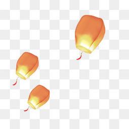 中式灯笼漂浮元素