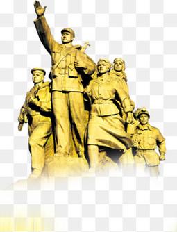 党建风建党节建军节红军雕像