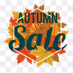 秋季促銷活動標簽設計