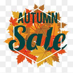 秋季促销活动标签设计