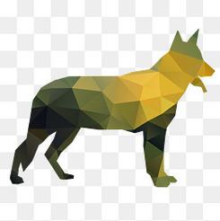创意几何形动物设计