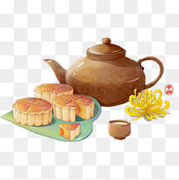 中秋节的食物和饮品设计