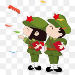 卡通国庆节的军人设计