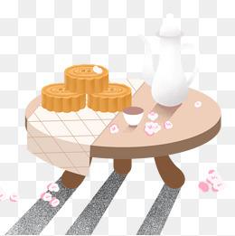 卡通手绘中秋月饼