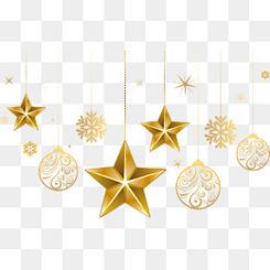 星星圣诞挂件免费下载
