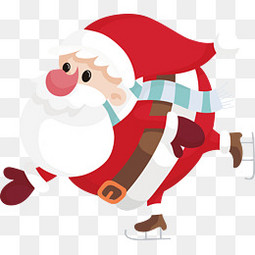 圣诞老人滑雪