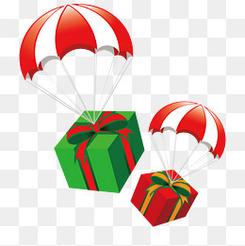 圣诞节 圣诞礼物 降落伞