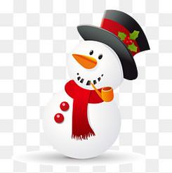 卡通圣诞节的雪人设计