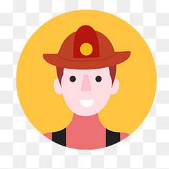 消防人员头像设计矢量图