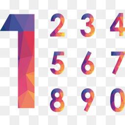 创意渐变几何形数字设计
