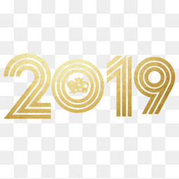 金色数字2019素材