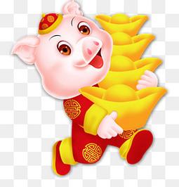 2019年猪年可爱猪动物