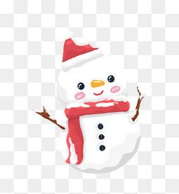 圣诞节小雪人可爱卡通插画
