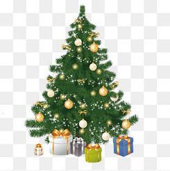 矢量手绘圣诞树