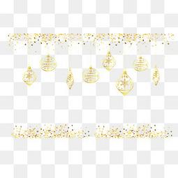 金色的圣诞节挂饰