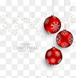 红色圣诞球挂饰