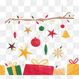 彩色圣诞节礼盒挂饰