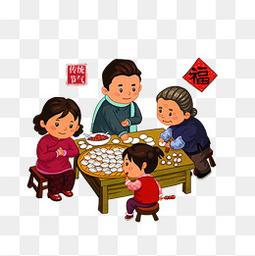 包饺子节日素材下载