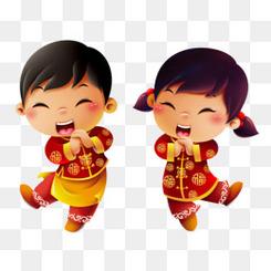 福娃 拜年 中国风