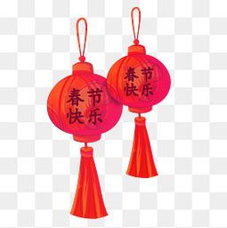 新春新年春节除夕过年灯笼喜庆