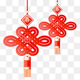 新春新年春节除夕过年中国结