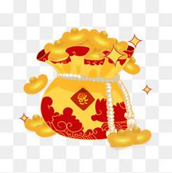 春节节日过年红包福袋金元宝