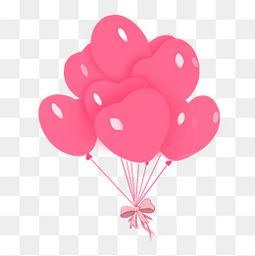情人节七夕粉色气球